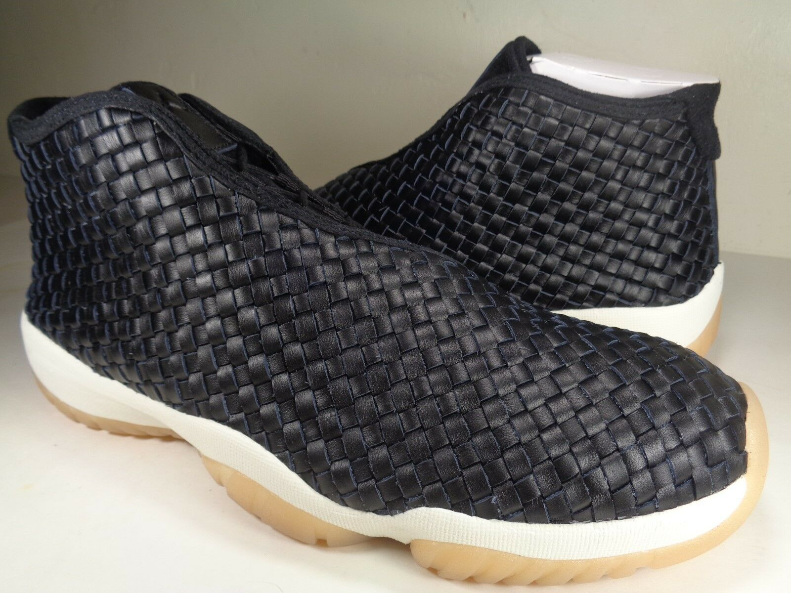 Nike Air Jordan Future Premium Black Sail Gum Yellow SZ 13 (652141-019)