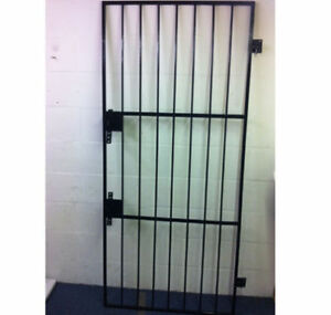 Heavy Duty Steel Security Grill Gate Metal Wrought Iron