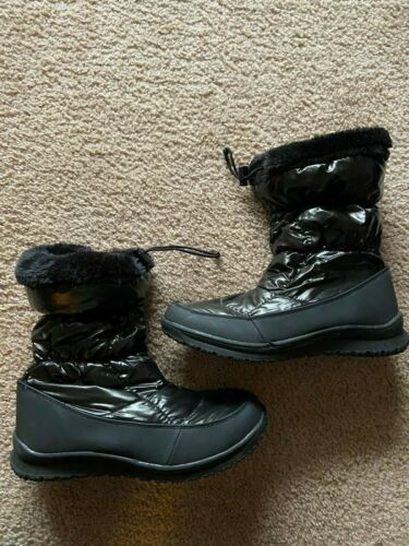 Womans Merona Black Winter Boots  - Size 10