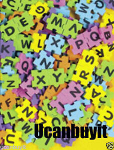 100pcs-1-2-034-Adhesive-Foam-Puzzle-Piece-ALPHABET-LETTERS-Puzzle-Cut-Ages-3