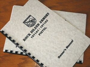 Details about ROCK ISLAND ARMORY 1911 A1 A2 Pistol OWNERS MANUAL