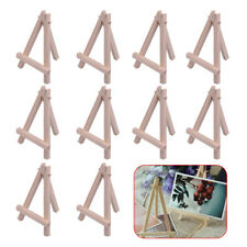 10pcs Mini Wooden Easel Triangle Table Display Holder Artist Stand Name Card
