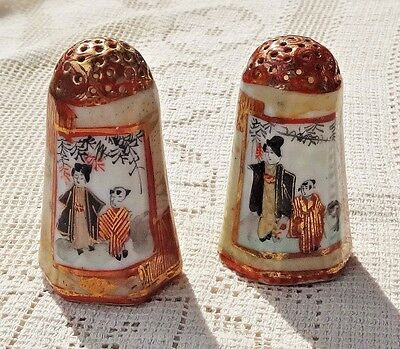 Vintage Pair of Hand Painted Boat Gondola Porcelain Salt and Pepper Shakers  Made in Japan