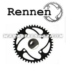 Black BMX 4 Bolt USA Made By RENNEN 4 Bolt 104 Threaded 38T Chainring