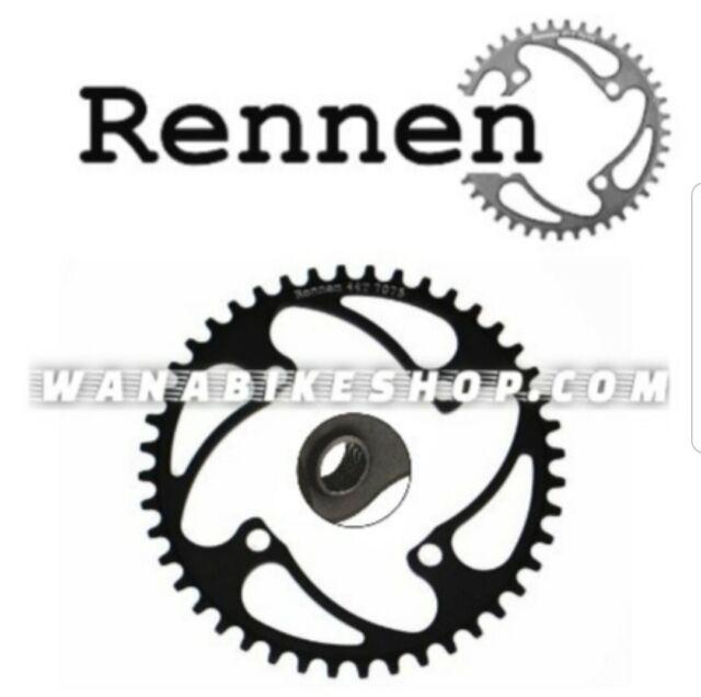 Rennen Threaded BMX Chainring 4 Bolt 104 Bcd 42T Black