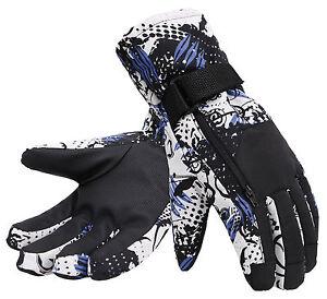 Men-039-s-Camouflage-Waterproof-Snowboarding-amp-Ski-Gloves-with-Hidden-Zipper