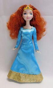 Disney Pixar Brave Princess Merida 11' Barbie Doll Blue Dress