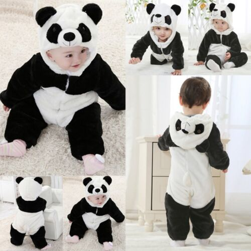 Baby Boy Girl Christmas Panda Fancy Party Costume Outfit Clothes Cosplay 2019New