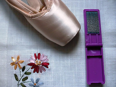Portátil plegable de bolsillo Zapato De Ballet Danza Pointe Anti-resbaladiza Hierro Cepillo-Nuevo