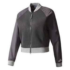 Adidas X Stella McCartney Women's Barricade Tennis Jacket Granite BK7959 NEW!