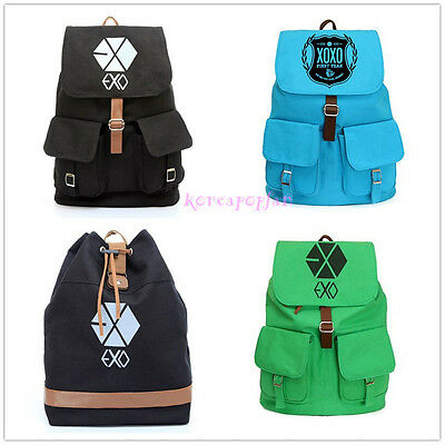 EXO XOXO WOLF MAMA FROM PLANET CANVAS 4KINDS SCHOOLBAG BACKPACK KPOP BAG NEW