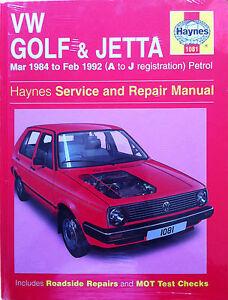 volkswagen golf and jetta 84 to 92 a j reg haynes service and rh ebay ie haynes golf mk1 service manual Haynes Repair Manuals