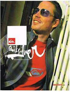 PUBLICITE ADVERTISING  2002    QUIKSILVER    JAMES STENTIFORD snowboarder