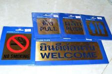Etched Brass Thai Signs For Restaurants Or Other Businesses Set Of 5 New In Wrap