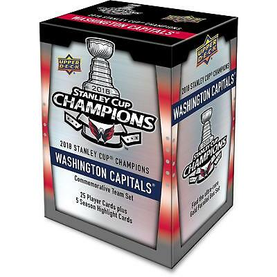 Upper Deck Washington Capitals 2018 Stanley Cup Champs Commemorative 30-Card Set