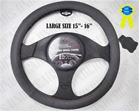 Large Steering Wheel Cover Leather Gray Truck Pick Up Suv