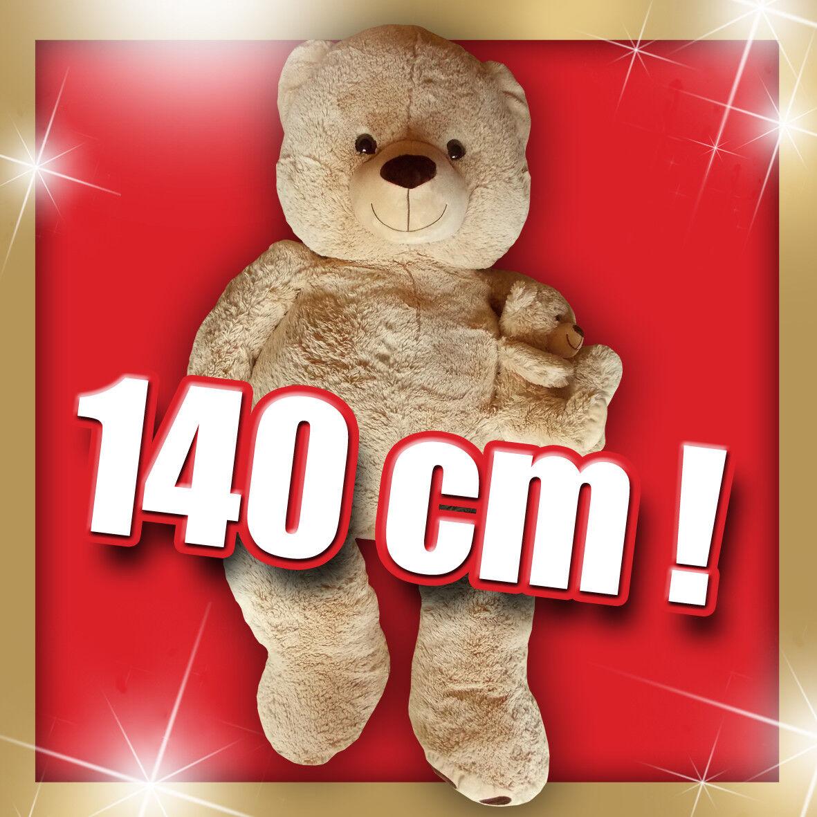 .··.· Teddy XXL (140 cm ) mit Teddykind   Unbespielt   total süß  -)