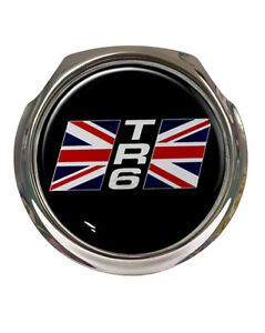 Triumph Tr6 Union Jack Car Grille Badge Free Fixings Ebay