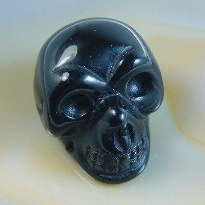 "1.2""Handmade Carved Natural Jasper Gemstone Skull Crystal Healing Pick Stone"