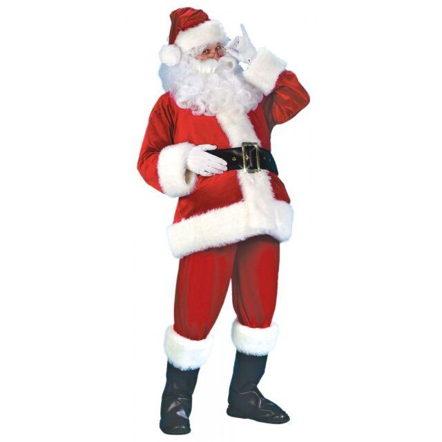 Santa Suit Adult Red Velvet Christmas Costume Fancy Dress