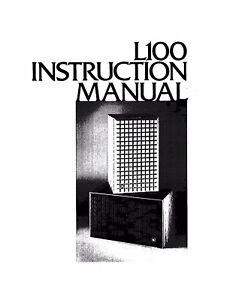jbl l100 speaker owners instruction manual ebay rh ebay com Wildgame Innovations Manuals Owner's Manual
