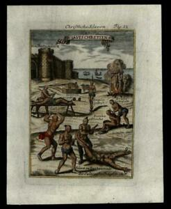 Christian-Slaves-tortured-Propaganda-1683-Mallet-remarkable-hand-colored-print