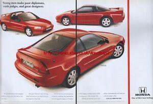 Honda Prelude CRX, NSX Car 1993 Magazine Advert #119