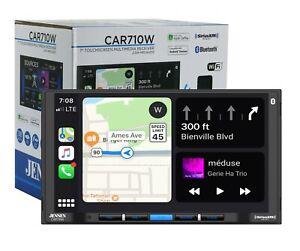 "Jensen CAR710W 7"" Double Din Touchscreen SiriusXM Ready Wireless CarPlay Android"