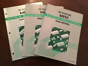 1995 2001 2003 Toyota Mr2 Factory Oem Wiring Diagram Ewd2151u Ewd424u Ewd498u Ebay
