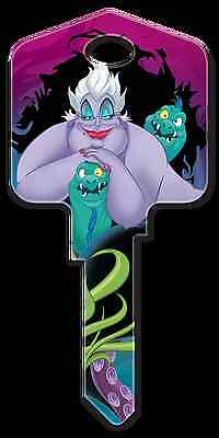 "DISNEY LITTLE MERMAID "" URSULA "" House Key Blank KWIKSET KW Reversible"