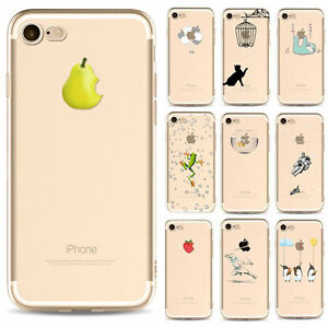 Shockproof-Pattern-Clear-Soft-Silicone-TPU-Thin-Case-Cover-fr-iPhone-7-6-Plus-SE