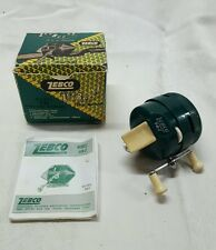 VINTAGE ZEBCO (IT'S A HONEY) 9 BZ REEL MADE FOR KEYSTONE. BOX,PAPER,USED,USA.