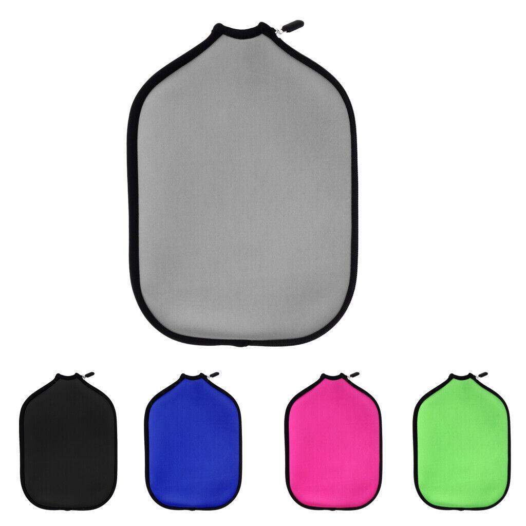 Pickleball Paddle Cover Neoprene Case Bag Zipper Pouch Holder Sleeves Black