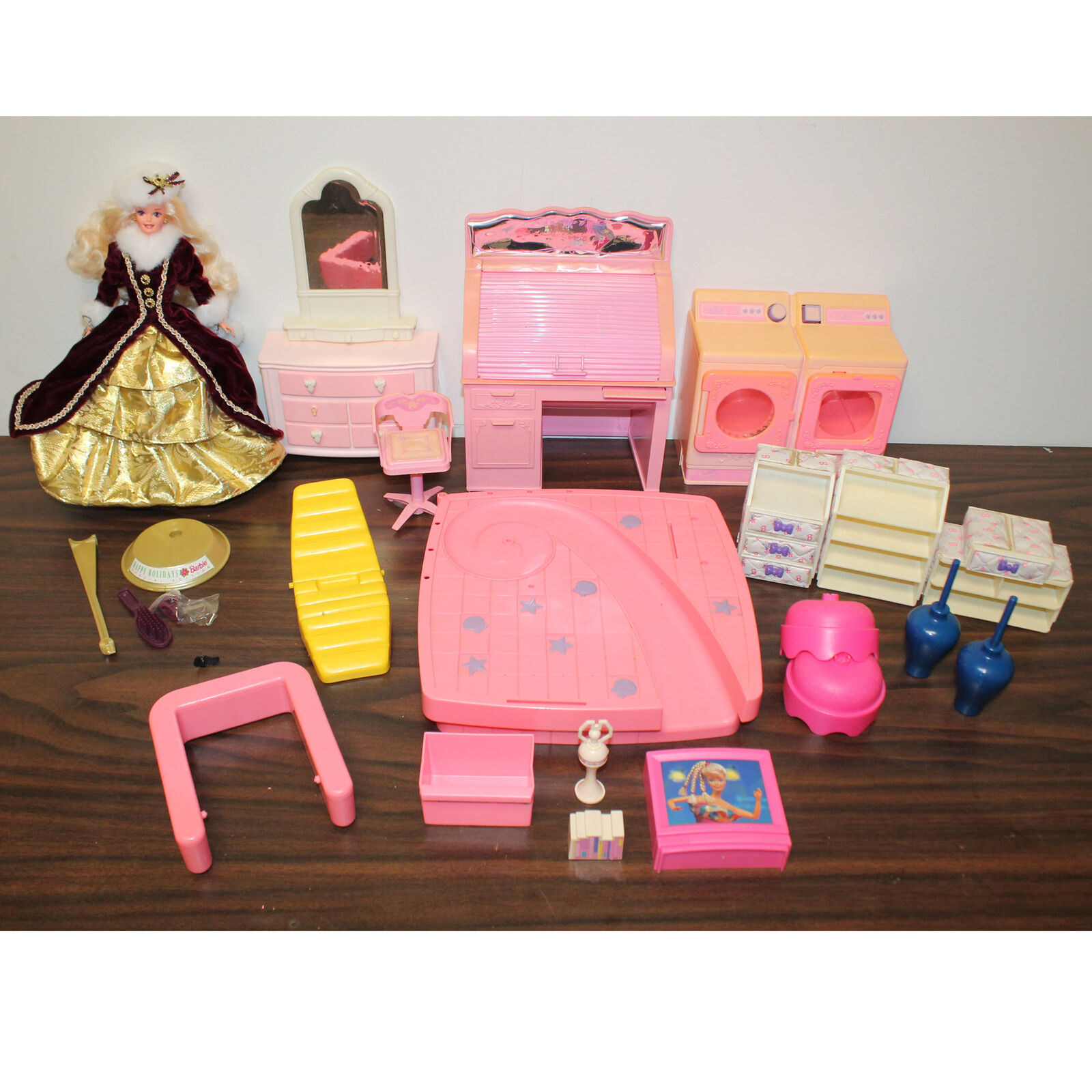 1990s Large Lot of Barbie Doll Furniture and Misc. Items