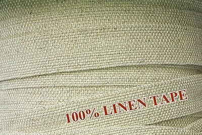 100% LINEN WEBBING DECORATION BUNTING APRON SEWING TAPE TWILL