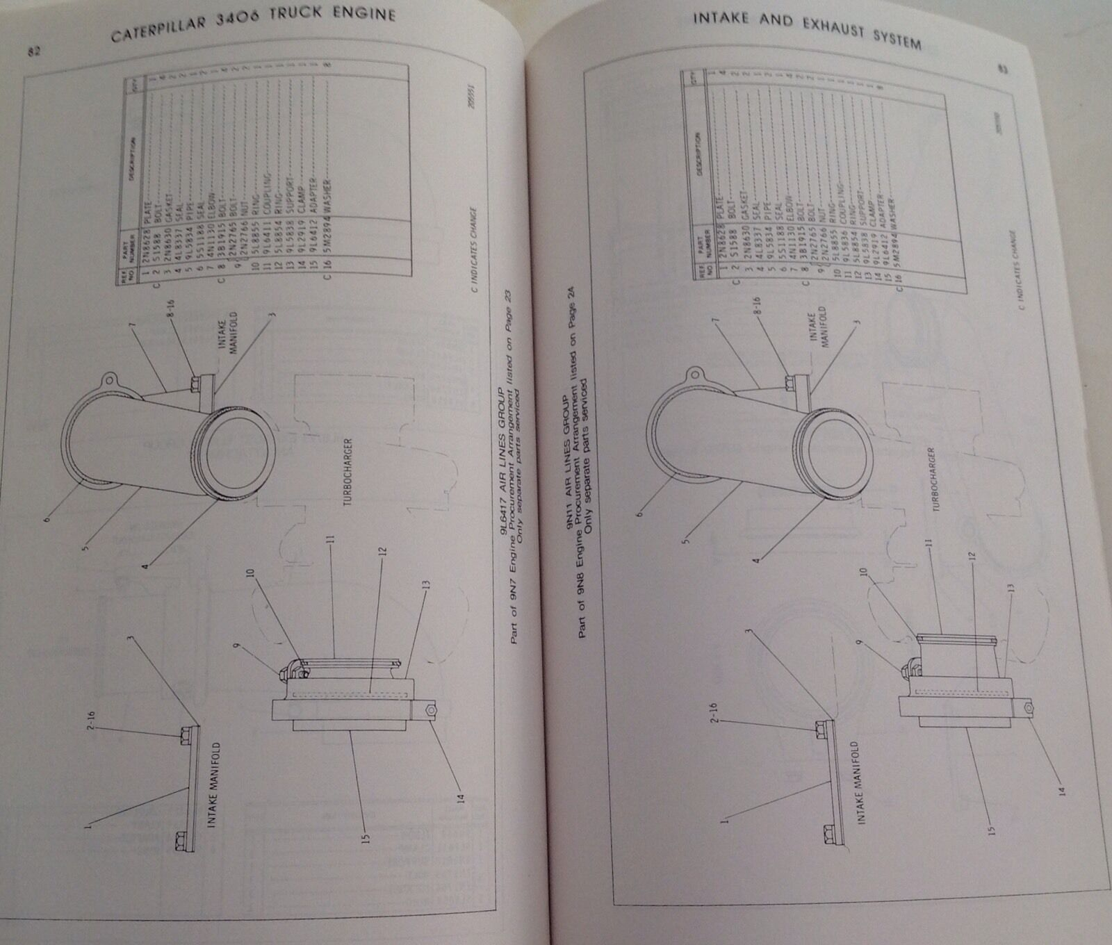 Caterpillar Cat 3406 Truck Engine Parts Manual Book Serial 92u1 To 13 Diagram 92u2700 Ebay