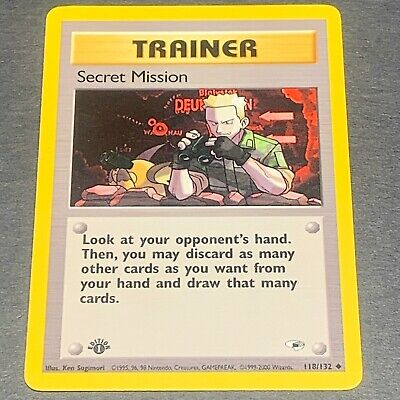Near Mint Secret Mission Gym Heroes 118//132 Pokemon TCG