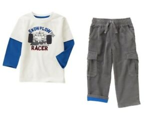 """Gymboree Boys /""""Woodland Party Fleece Pullover//Cord Pants//Tees 18 24 2T 3T"""