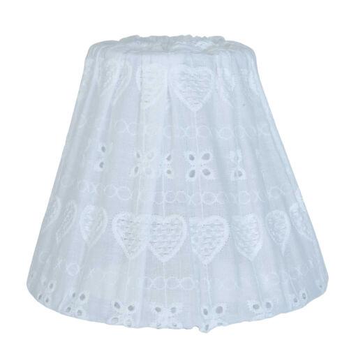 Clayre /& FED abat-jour blanc Shabby Lampe Lampe de chevet Lampe de table ø15x12cm