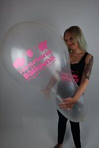 1-x-LOONERWORLD-Cattex-32-034-XXL-NECK-Luftballon-TRANSPARENT-CLEAR-LOGO-LOONER