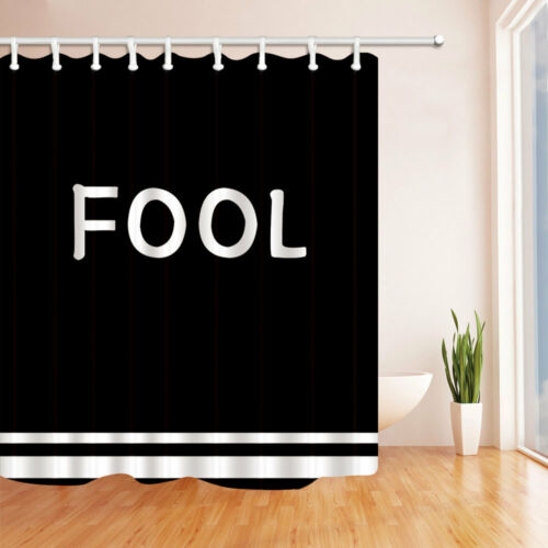 Funny Warm Word Fool Sweet Lover Bathroom Fabric Shower Curtain Set 71Inches