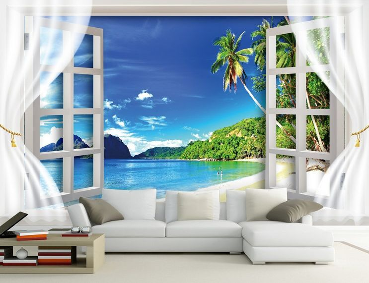 3D Die schöne aus dem dem dem Fenster Fototapeten Wandbild Fototapete BildTapete Familie 6a1a86
