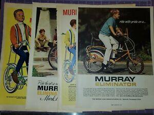 Murray Eliminator muscle bike magazine ad lot of 4