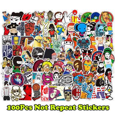 100 Stickers Vinyl Laptop Luggage Decals Dope Skateboard Sticker Random  Lot Mix