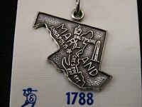 Stunning Maryland State Sterling Silver Pendent/ Charm Make Offer 1978