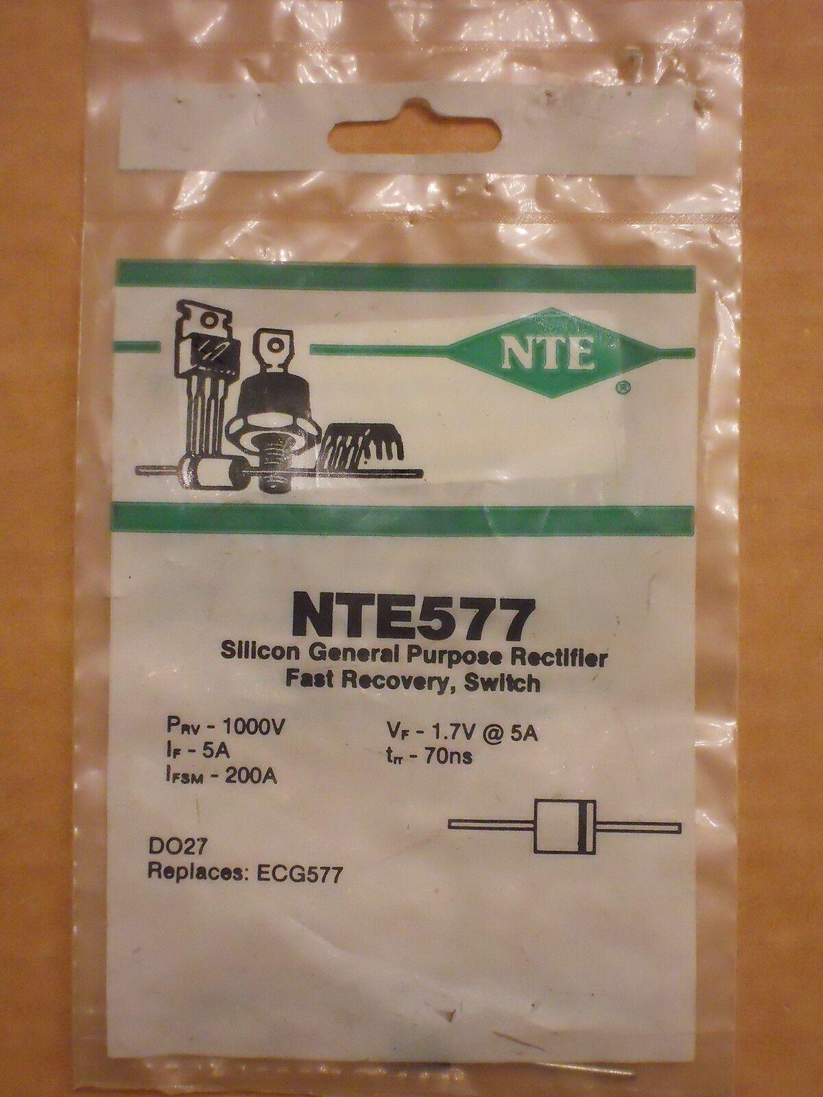 Nte Nte577 1000v 5 Amp General Purpose Silicon Diode Ebay Standard 1n4007 Vs Schottky 1n5819 Electronics Club Fans