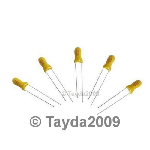 FREE SHIPPING 2 x 33uF 16V Radial Tantalum Capacitor