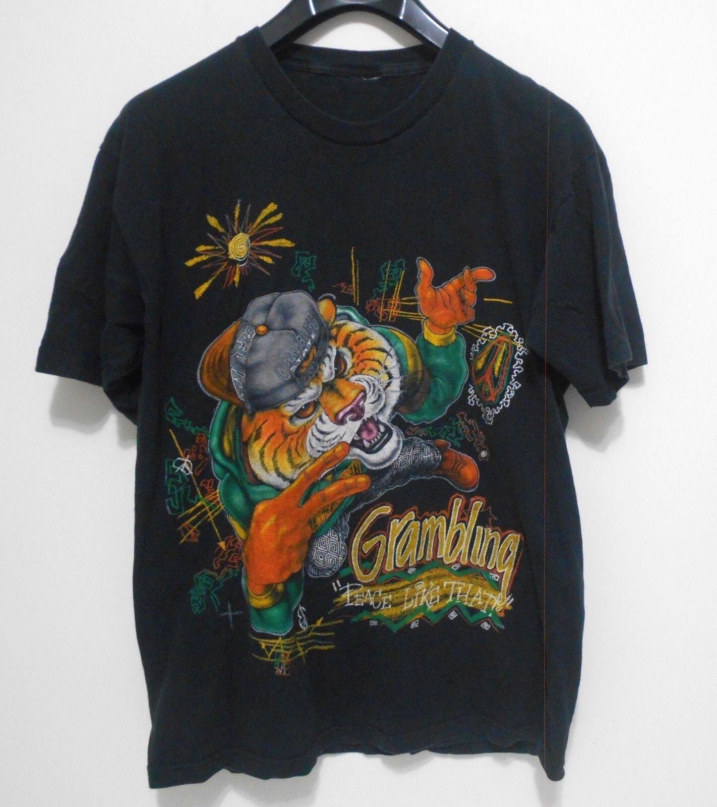 VINTAGE GRAMBLING STATE University T-shirt - Men's Size L - NCAA Hip Hop Tigers