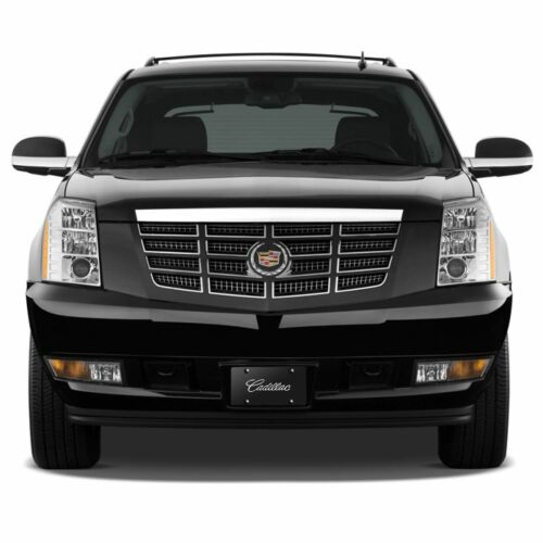 Cadillac Chrome Name Badge On Black License Plate
