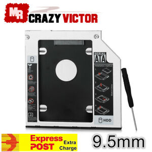 9.5mm Universal SATA 2nd HDD SSD Hard Drive Caddy for CD ...